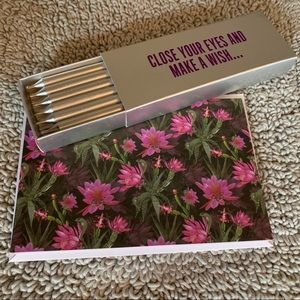 NEW Ted Baker designed card + Silver Candles